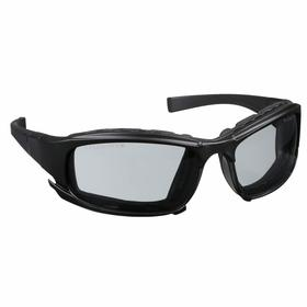 Kimberly-Clark Professional Safety Glasses: Gray, Full Frame, Anti-Fog/Scratch Resistant, Black, Polycarbonate