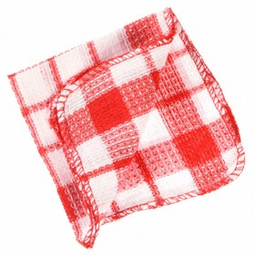 Kitchen Wash Cloth: 100% Cotton, Assorted, 12 in Lg, 12 in Wd, 24 PK