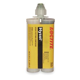 Loctite High Strength Acrylic Adhesive: Metal/Plastic Bonded, 3800 psi Shear Strength, 60 min, 24 hr Full Cure Time