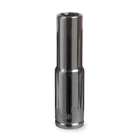 Deep Socket: Imperial, 3/8 in Drive Size, 6 Points, 7/8 in Socket Size, 2 1/2 in Overall Lg, 2 1/16 in Bolt Clearance Dp