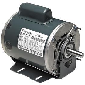 Regal AC Motor: Single Phase, 1/3 hp Output Power, 1140 RPM Nameplate RPM, 56 NEMA Frame Size, 115V AC/230V AC, CCW, Ball