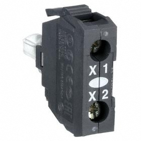Schneider Electric Lamp Module with Bulb: 24V AC/DC, Includes Bulb, White, 100000 hr Avg Life, Screw Clamp, LED