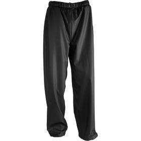 Rain Pant: L Size, Polyester, Black, 2 Pockets, 30 in Inseam Lg, 42 in Max Waist Size, Unisex