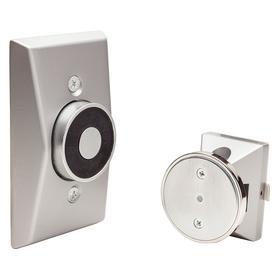 Wall Mount Electromagnetic Door Release: 35 lb Max Holding Force, 1 5/8 in Door Plate Ht, 2 5/8 in Door Plate Projection
