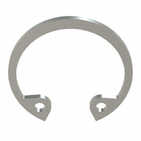 Internal Retaining Ring: Stainless Steel, Passivated, HO-62 Ring, For 5/8 in Bore Dia, For 0.665 in Groove Dia, 10 PK