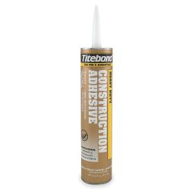 Titebond Single-Part Adhesive: Remains Flex, Ceramic/Masonry/Plaster/Wood Bonded, 20 min, Paste, Light Tan, 10 fl oz Size