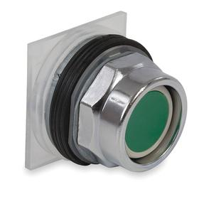 Schneider Electric Emergency Stop Push Button Operator: Mushroom Operator, Non-Illuminated, Momentary, Green, Metal, 30 mm Compatible Panel Cutout Dia