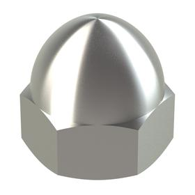 Standard Crown Acorn Nut: 18-8 Stainless Steel, M12 Thread Size, 1.75 mm Thread Pitch, 17 mm Thread Dp, 19 mm Wd, 5 PK