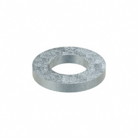 Oversized Flat Washer: Steel, Zinc Plated, Through Hardened Material Grade, For 1 in Screw Size, 1.063 in ID, 10 PK