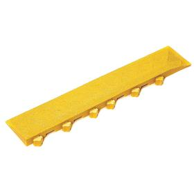 Ergo Advantage Side Edging for Interlocking Mats: Ramp with Corner, 4 in Wd, 22 in Lg, 1 in Thickness, Female, PVC, 2 PK