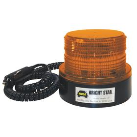 Magnetic-Mount Vehicle Beacon: LED, Amber, Plastic, Polycarbonate, 4 in Overall Ht, 4 in OD, 60 Max Flashes per Minute
