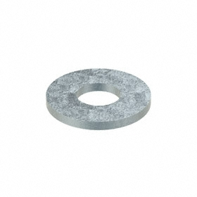 Flat Washer: Steel, Zinc Plated, Low Carbon Material Grade, For 1/2 in Screw Size, 0.532 in ID, 1.25 in OD, 10 PK