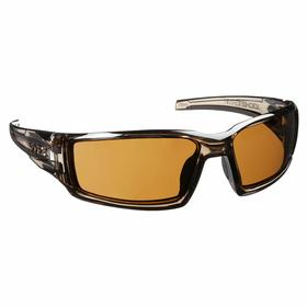 Honeywell Safety Glasses: Brown, Wraparound Frame, Anti-Fog, ANSI Z87.1-2010, Nylon