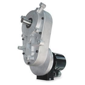 AC Gear motor: 115V AC/230V AC, 1/12 hp Input Power, 1 RPM Nameplate RPM, 3000 in-lb Full-Load Torque, 1645:1 Gear Ratio