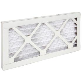 Pleated Air Filter: 10 MERV, Framed, 8 x 16 x 1 Nominal Filter Size, Synthetic/Polyester, 5 mil Filter Thickness, Cold Glue, 12 PK