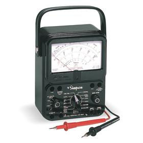 Analog Multimeter: Current/Decibels/Resist/Volt, 1000 V AC Max AC Volt Detected, 250 A Max AC Current Detected, 1000 V DC Max DC Volt Detected