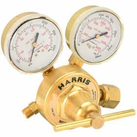 Harris Gas Pressure Regulator: Single, Heavy Duty Rating, For Oxygen, CGA-540 CGA, Teflon