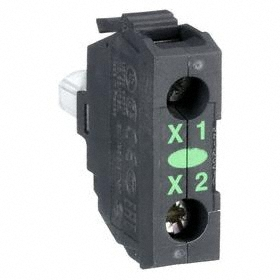 Schneider Electric Lamp Module with Bulb: For Schneider Electric 22mm Operators (ZB4, ZB5), 120V AC/DC, Light Block, Green