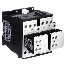 Eaton IEC Magnetic Contactor: 3 Poles, Single/Three Phase, 25 A Current Rating, 120V AC Control Volt, Reversing