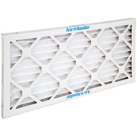 Pleated Air Filter: 8 MERV, Framed, 10 x 16 x 1 Nominal Filter Size, Synthetic/Polyester, 5 mil Filter Thickness, Cold Glue, 12 PK