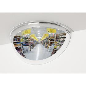 See All Half Dome Mirror: Acrylic Lens, 26 in Dia, 26 ft Viewing Distance, Galvanized Steel, 11 in Dome Ht, Round
