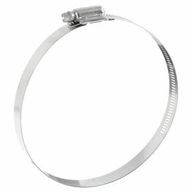 Worm-Gear Clamp: Interlocked, Stainless Steel, 912 SAE Size, For 6 in Min Inch OD, For 9 1/8 in Max Inch OD, 5 PK