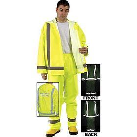 MCR Rain Pant: Polyurethane, Fluorescent Lime, 0 Pockets, Men, XL Size, 32 in Inseam Lg, 42 in Max Waist Size, Snap