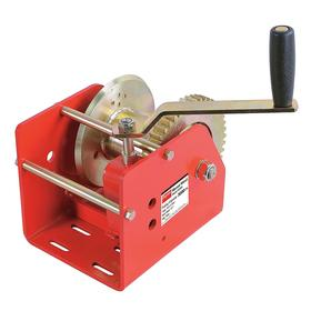 Precise-Control Manual Worm-Gear Winch for Pulling: Std Duty Duty Rating, Steel, 3000 lb Max Load Cap (First Layer)