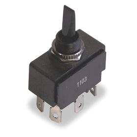 Ideal Toggle Switch: 20A @ 125VAC, 10A @ 250VAC Switch Rating, Momentary On/Off/Momentary On, 6 Connections, Black