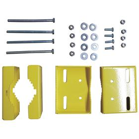 Mounting Bracket Kit: Yellow, Powder-Coated, Steel, 2 3/4 in Dp, 6 in Ht, 200 lb Max Load Capacity, Load Rated