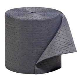 Roll for General Spills: Perforated Roll, 18.4 gal Max Absorbency Volume per Pack, Heavy Absorbency Wt, 16 in Wd, Gray