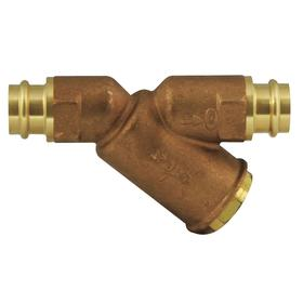 Conbraco Y Strainer: 50 mesh/297 micron Filter Rating, 1/2 in Inlet Size, 1/2 in Outlet Size, Bronze, 4 3/4 in Lg, PRESS