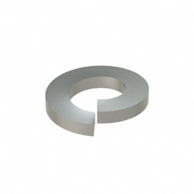 Split Lock Washer: 18-8 Stainless Steel, For M5 Screw Size, 5.1 mm ID, 9.2 mm OD, 1.2 mm Thickness, 50 PK