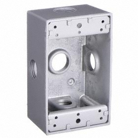 Superior Hubbell Waterproof Switch U0026 Outlet Electrical Box: 1/2 In Compatible Trade  Size, Part 15
