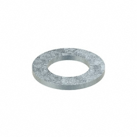 Narrow Flat Washer: Steel, Zinc Plated, Low Carbon Material Grade, For 1 1/4 in Screw Size, 1.313 in ID, 2 PK