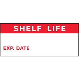 Inventory & Inspection Label: Shelf Life/Exp. Date, 1/2 in Label Ht, 1 in Label Wd, 350 PK
