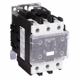 IEC Magnetic Contactor: 3 Poles, 80 A Current Rating, 24V AC Control Volt, 7 1/2 hp - Single Phase @ 120V, 50/60 Hz