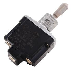 Heavy-Duty Toggle Switch: 2 Positions, 1/2 in Mounting Hole Dia, 15 A @ 277V AC Switch Rating (AC), 1 Poles, On-Off, SPST