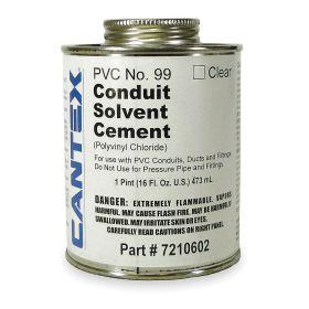 Cantex Sealant for Unthreaded Plastic Pipe: PVC, 0° F Min Op Temp, 100° F Max Op Temp, Clear, 16 fl oz Size, Can