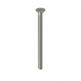Flat Head Machine Screw: 18-8 Stainless Steel, Slotted, 10-24 Thread Size, 2 1/2 in Shank Lg, 50 PK