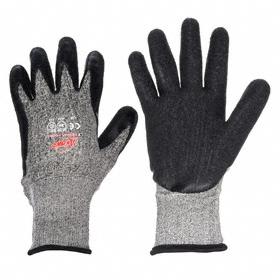 MCR General-Use Work Glove: Coated Fabric Glove, ANSI Cut-Resist Level 3, Knit Cuff, Acrylic/Dyneema, Bi-Polymer, 1 PR