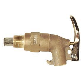 Drum Faucet: Brass, Adhesives/Heavy Oils/Non-Corrosive Flammables/Paint/Viscous Liquids, Rigid, Self-Closing, Male, NPT