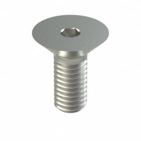 Flat Head Socket Cap Screw: 18-8 Stainless Steel, M5 Thread Size, 0.8 mm Thread Pitch, 10 mm Shank Lg, 50 PK