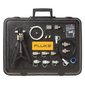 Fluke Pressure Calibrator Pump: Pneumatic, -12.7 psi Min Pressure, 600 psi Max Pressure, Black Case