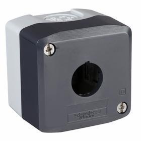 Corrosion-Resistant Push-Button Enclosure: 22 mm Push-Button Hole Dia, 1 Hole, 1 Hole Column, 1 Hole Row, 2 in Dp