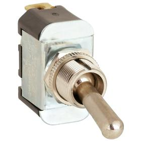 General Duty Toggle Switch: Non-Illuminated, 2 Positions, 15 A @ 125V AC Switch Rating, 1 Poles, On-Off, SPST, Maintained, Screw Termination