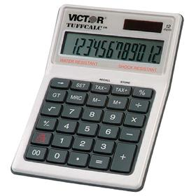 Calculator: 3 Key, 12 Display Digits, 6 1/2 in Lg, 4 1/4 in Wd, 2 in Dp, Solar/Battery Power Source