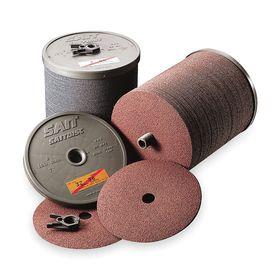 United Abrasives Sanding Disc: Coarse Relative Grit Grade, 5 in Disc Dia, 60 Grit, 7/8 in Center Hole Dia, Brown, 100 PK