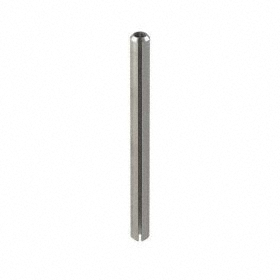 Slotted Spring Pin: Steel, Plain, 2 1/2 mm OD, Fits 2.5 Min Hole Dia, Fits 2.65 Max Hole Dia, 30 mm Overall Lg, 100 PK