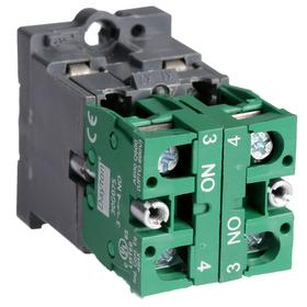 Lamp Module & Contact Block: For Plastic Operators, 1.57 in Overall Lg, Red, 2 Haz Material Indicator, LED